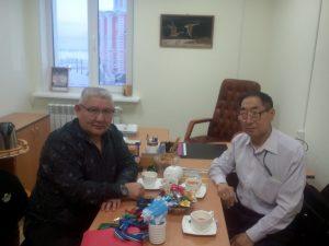 На встрече с Петром Наумовым - проф. В.Г. Игнатьев